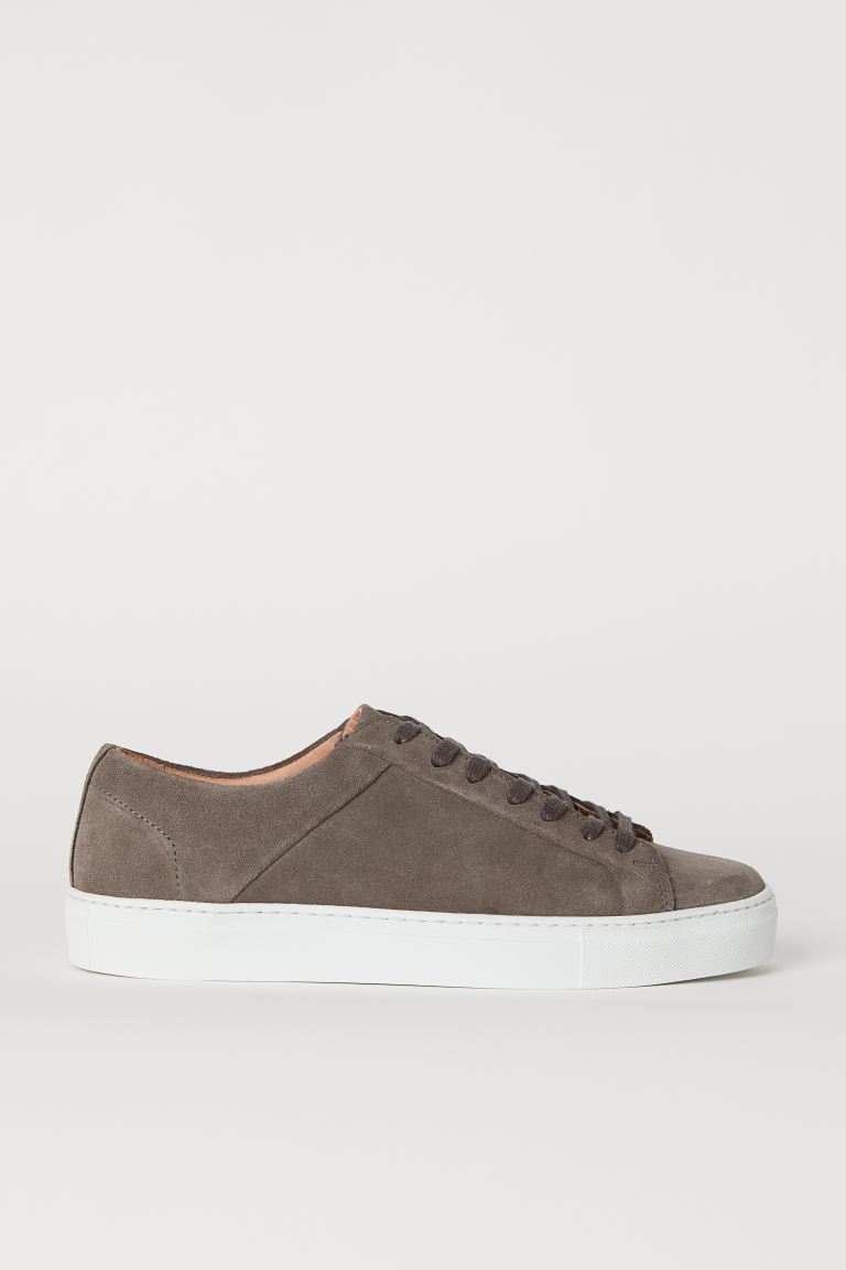 Sneakers - Dark taupe/suede - Men | H&M US