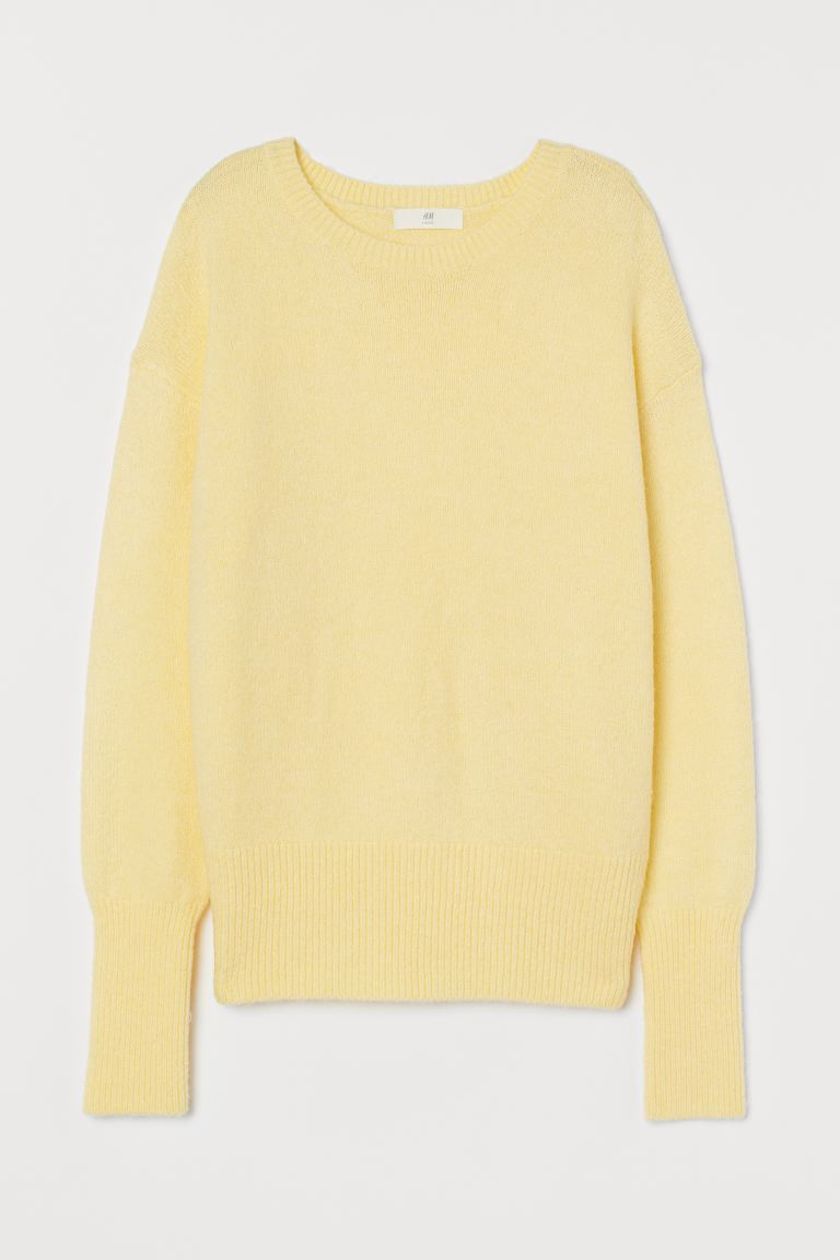 Knitted jumper - Light yellow - Ladies | H&M IN