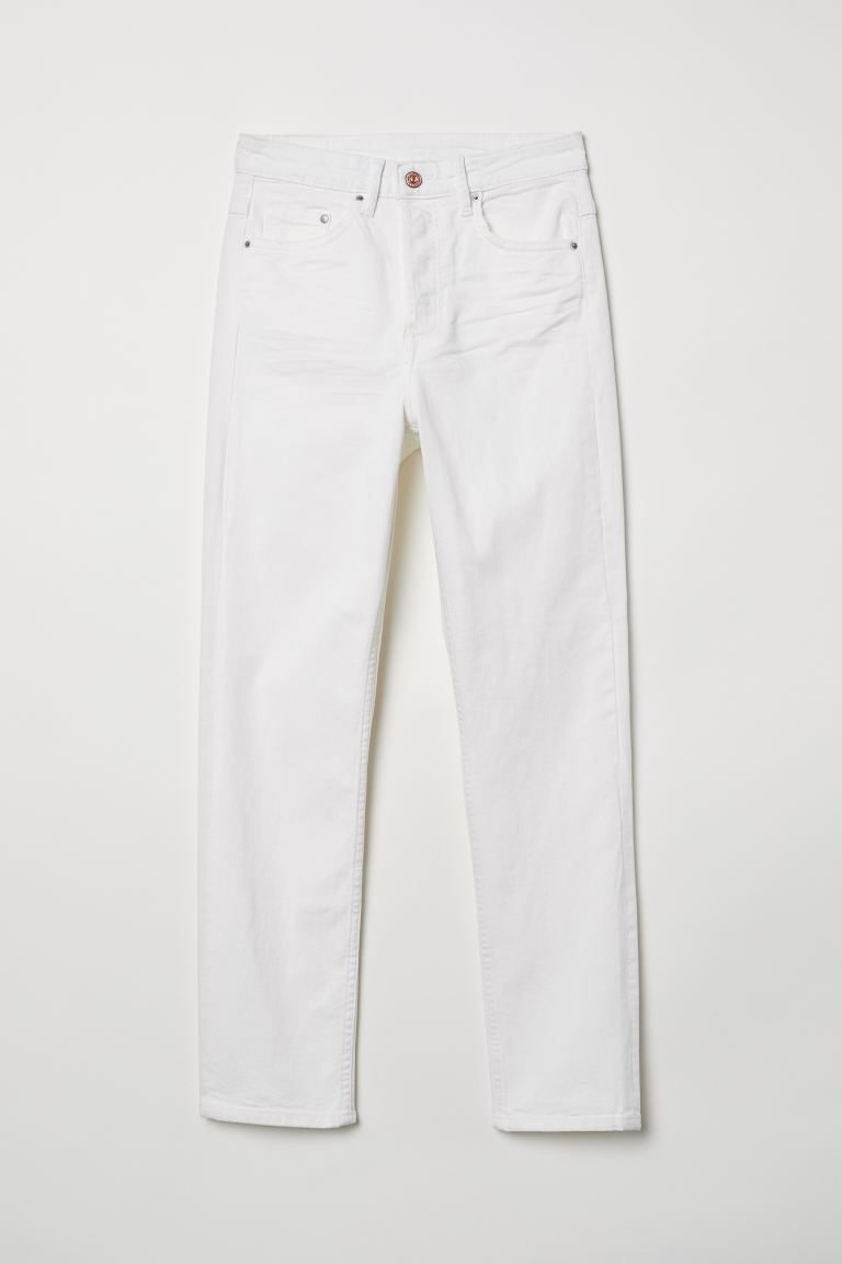 Slim Regular Ankle Jeans - Denim bianco - DONNA | H&M IT
