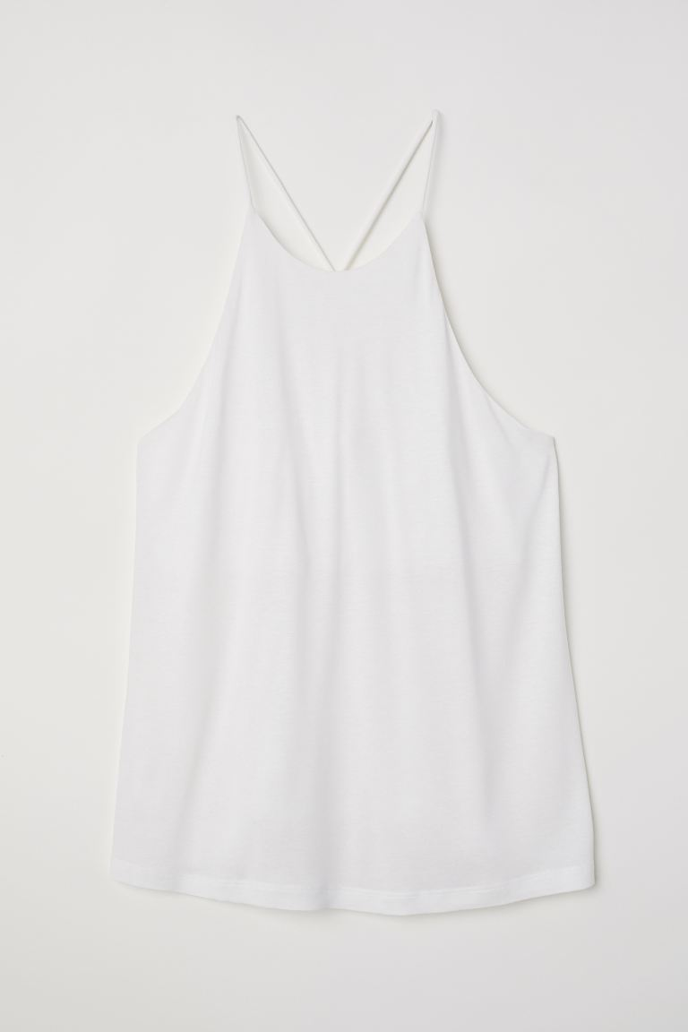 Jersey Tank Top - White - Ladies | H&M US