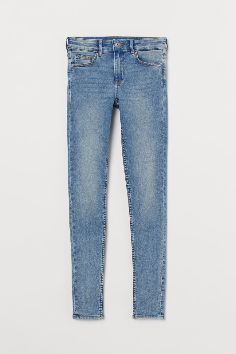 Super Skinny Regular Jeans - Light blue - Ladies | H&M US