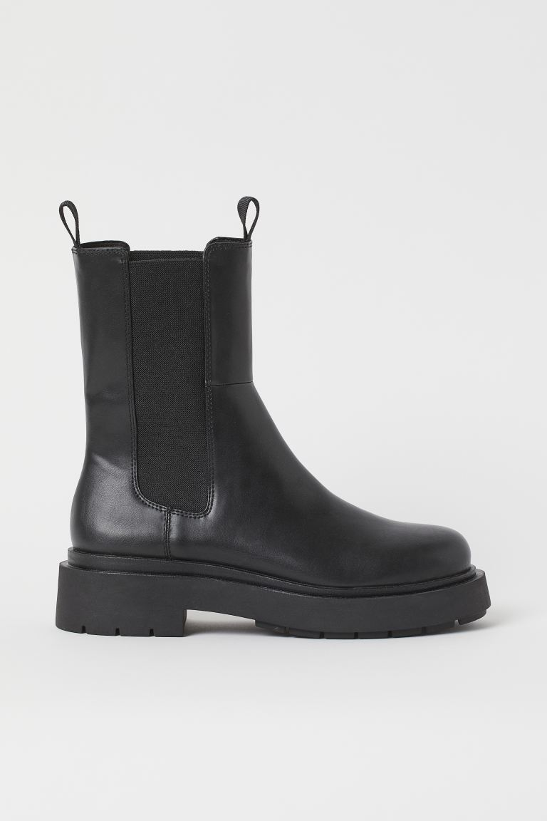 High profile Chelsea boots - Black - Ladies | H&M IN