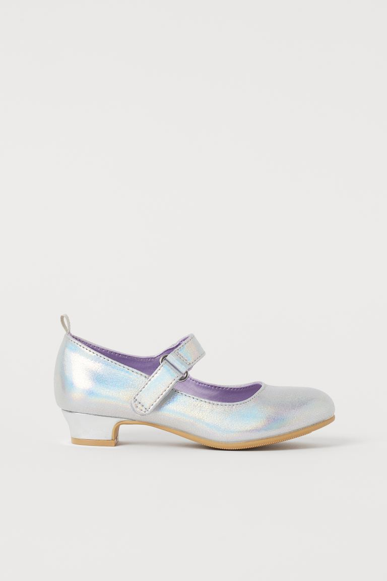 Glittery Dress-up Shoes - Silver-colored/Frozen - Kids | H&M US