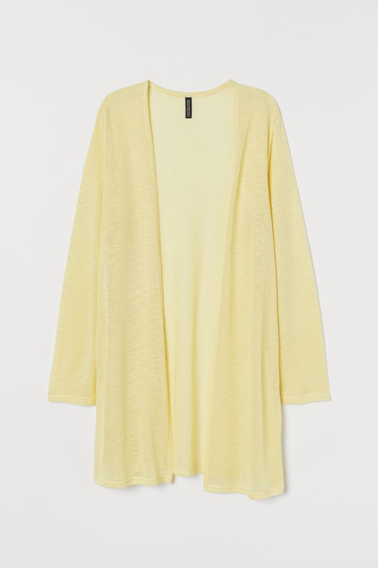Loose-knit cardigan - Light yellow - Ladies | H&M GB