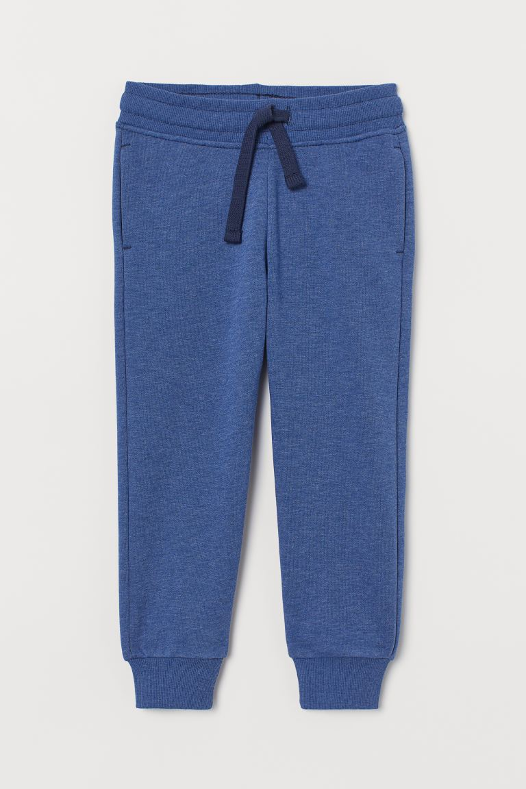 Brushed-inside Joggers - Blue melange - Kids | H&M CA