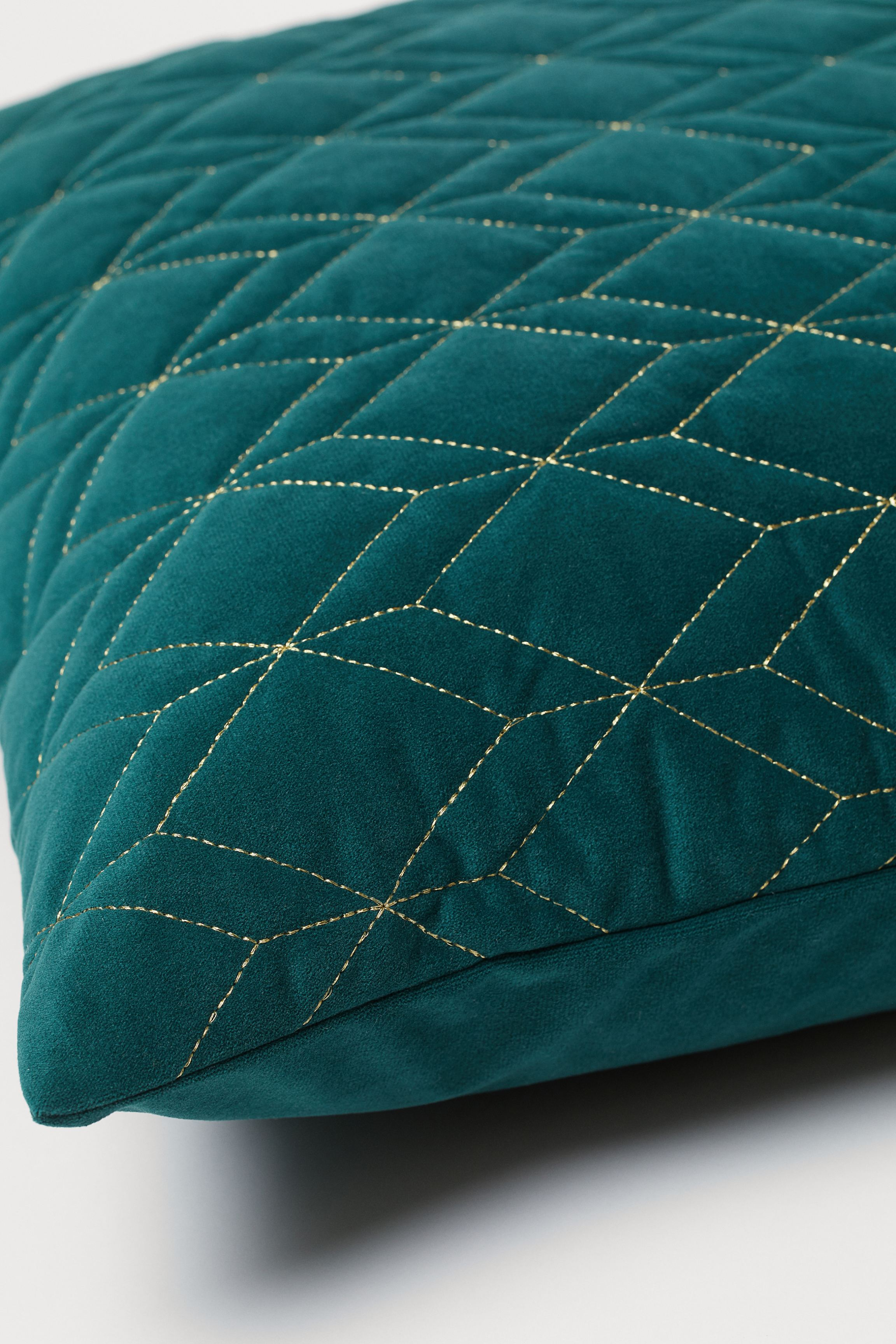 Quilted Velour Cushion Cover
