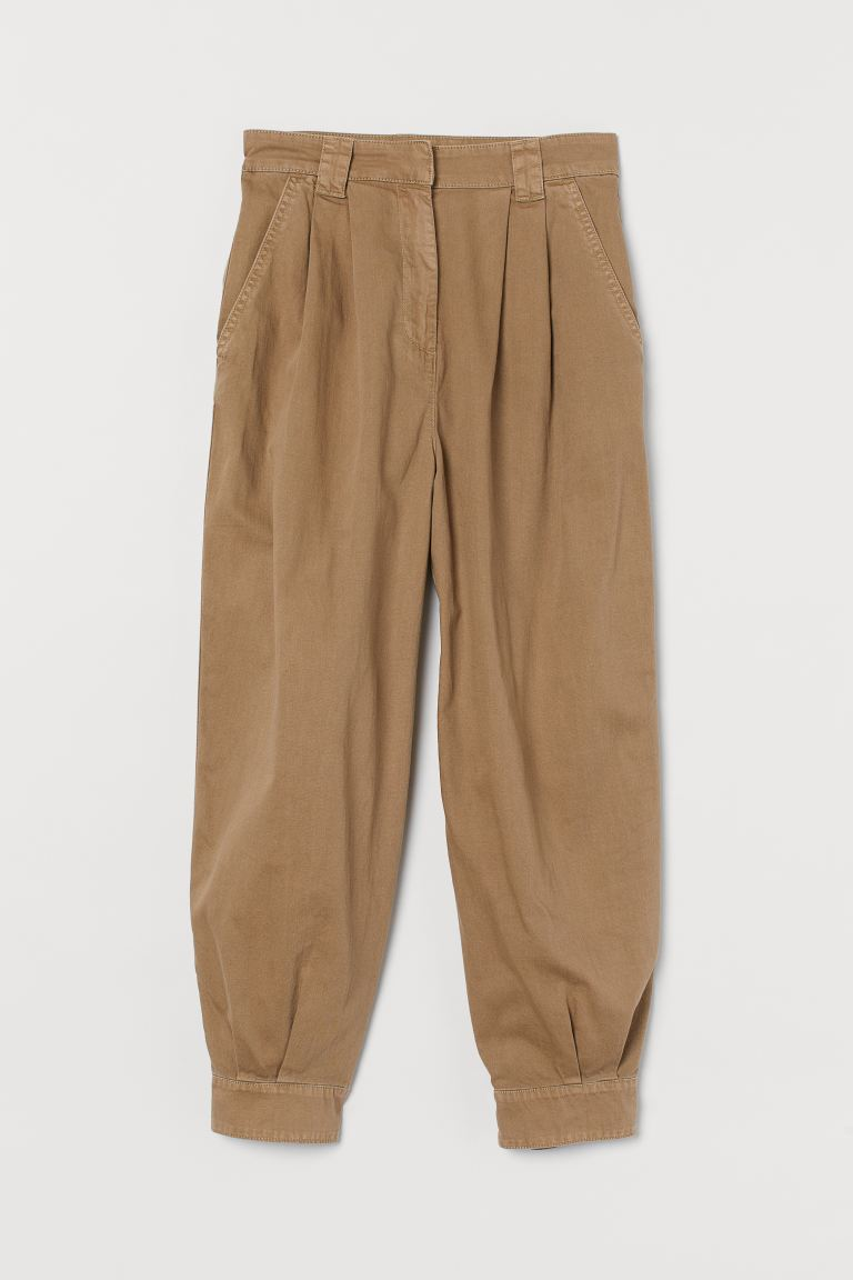 Cotton utility trousers - Dark beige - Ladies | H&M