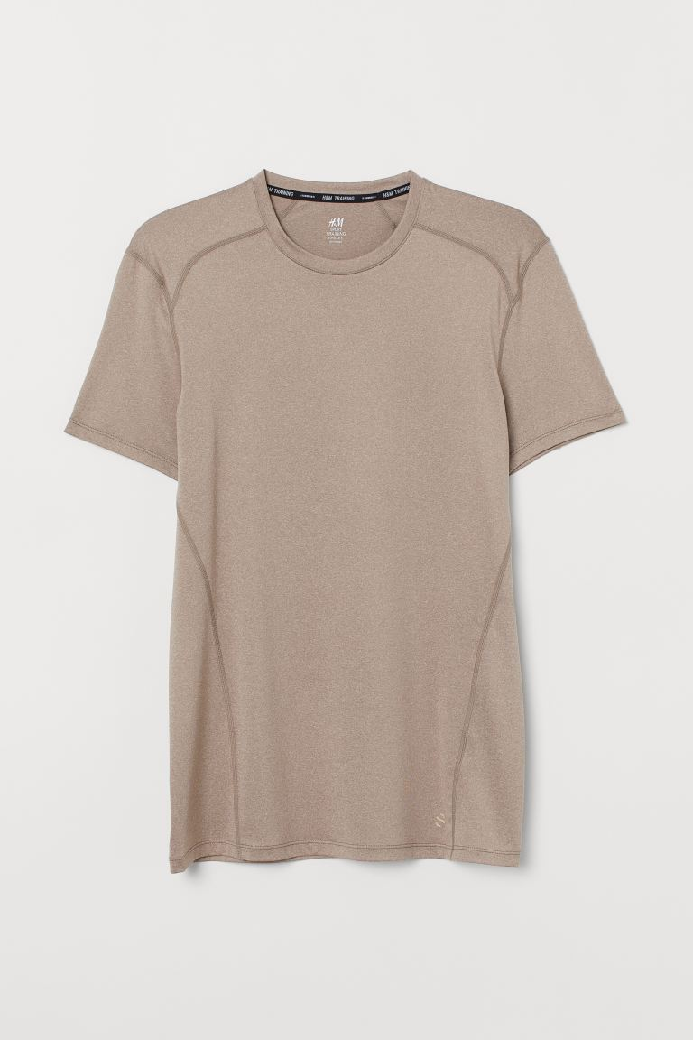 Sports top Muscle Fit - Beige marl - Men | H&M