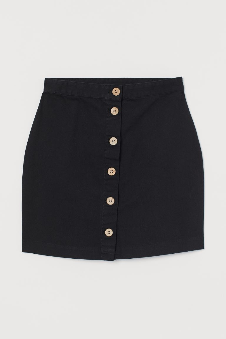 Short Twill Skirt - Black - Ladies | H&M AU