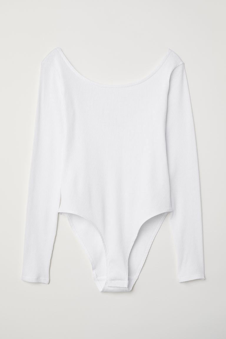 Langarmbody - Weiß - Ladies | H&M AT