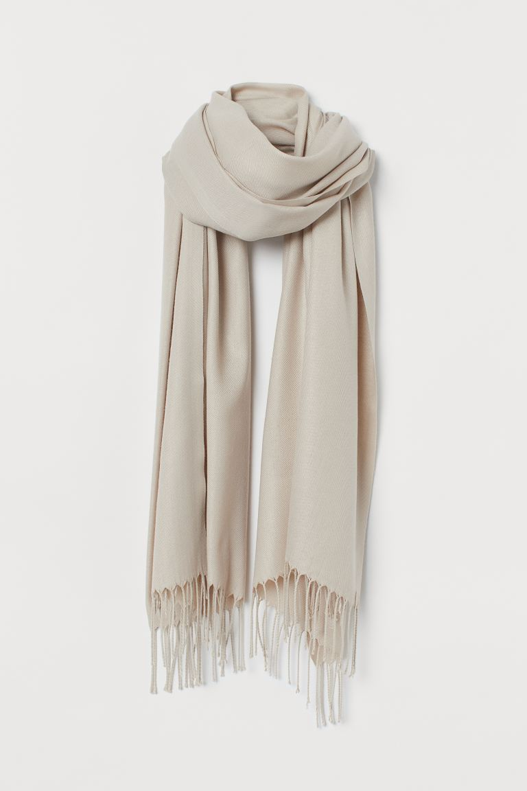 Woven Scarf - Light beige - Ladies | H&M US