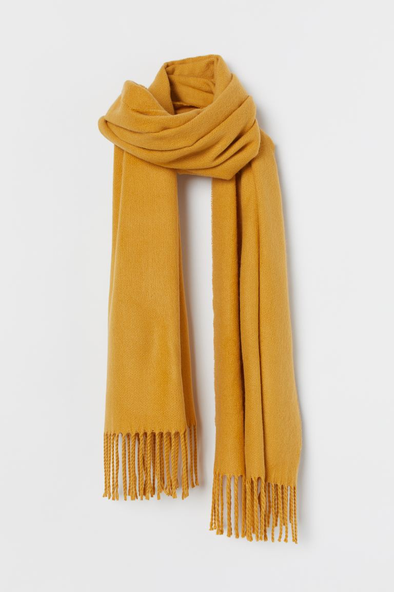 Fringed scarf - Yellow - Ladies | H&M IE