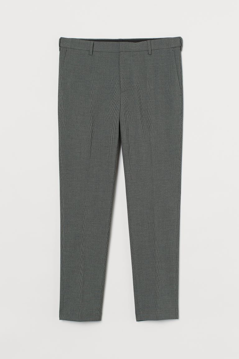 Suit trousers Skinny Fit - Grey/Black checked - Men | H&M