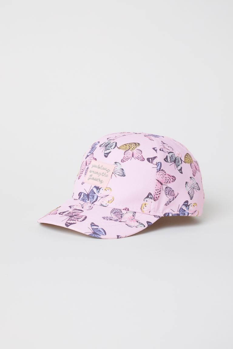 Cap - Light pink/Butterflies - Kids | H&M GB