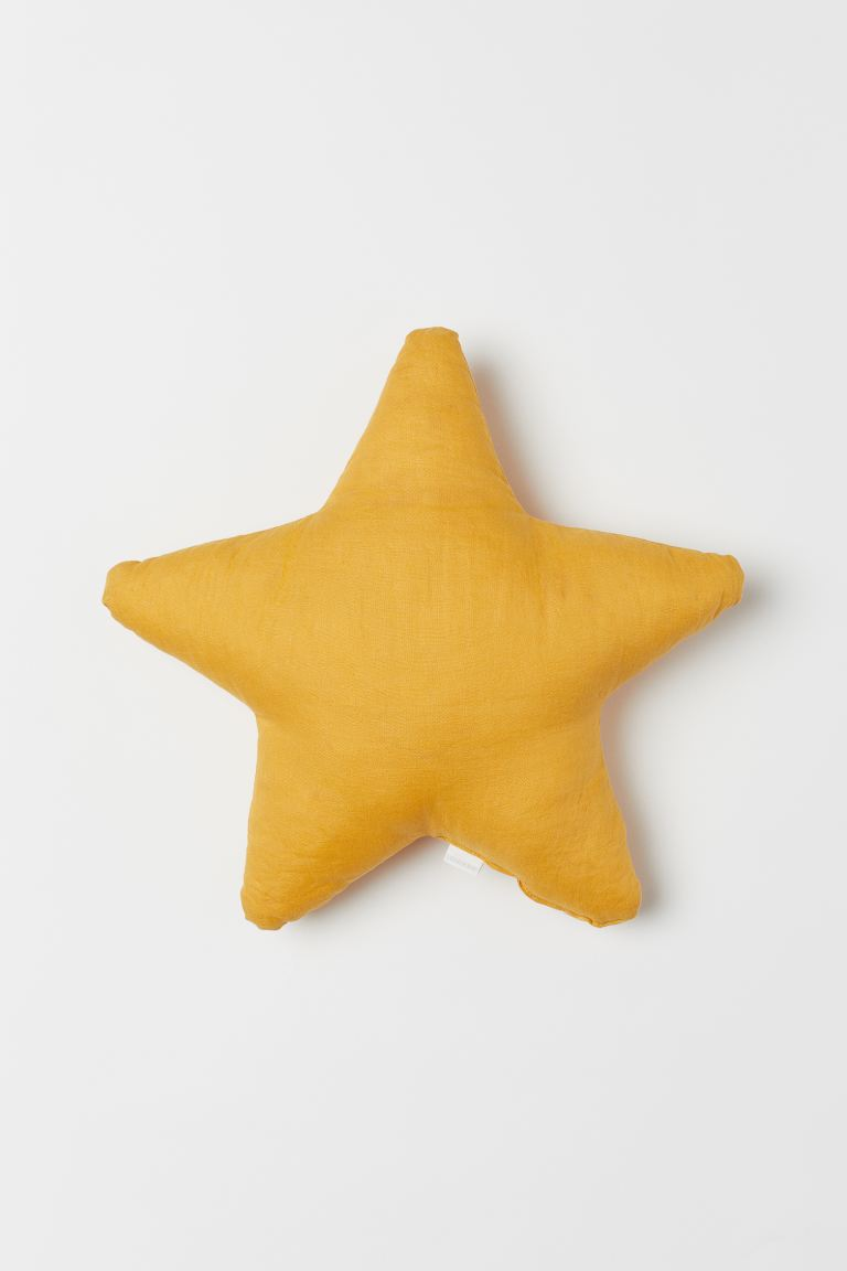 Star-shaped Cushion - Mustard yellow - Home All | H&M US
