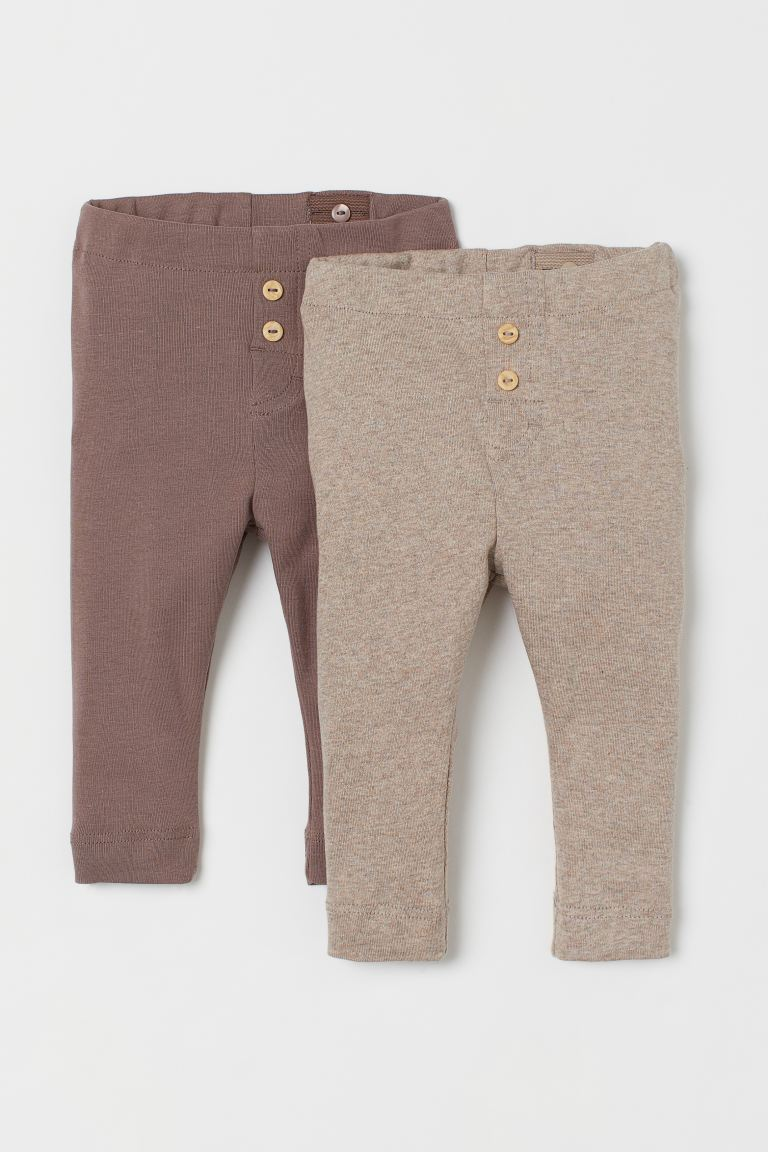 2-pack de leggings - Gris pardo - Kids | H&M MX