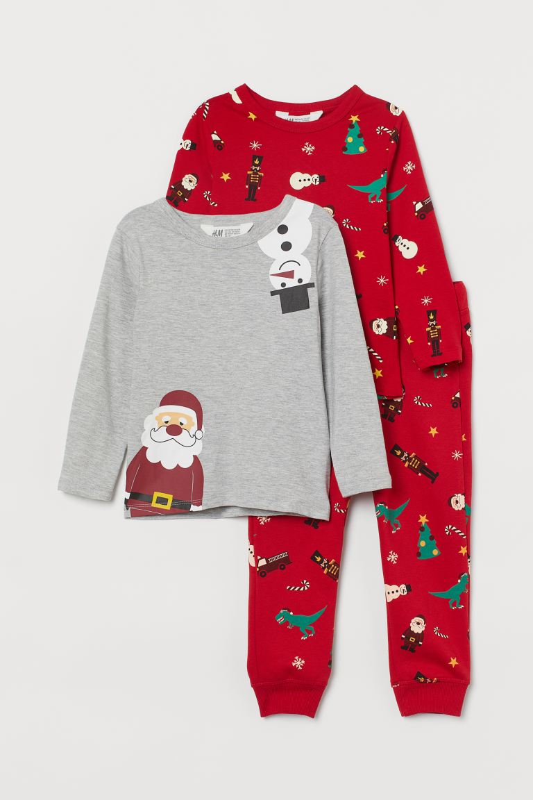 3-piece Jersey Set - Red/Christmas motif - Kids | H&M CA