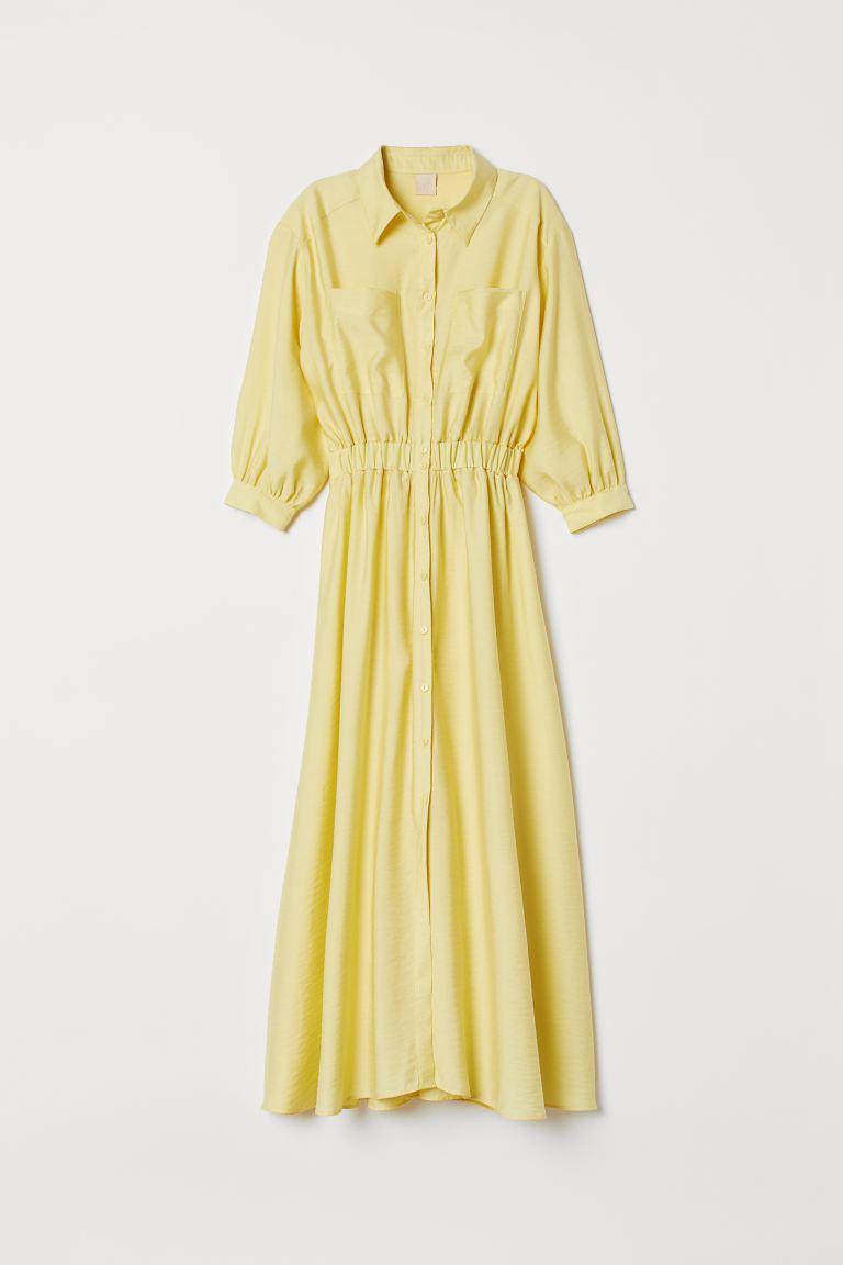 Robe Chemise Jaune Clair Femme H M Fr