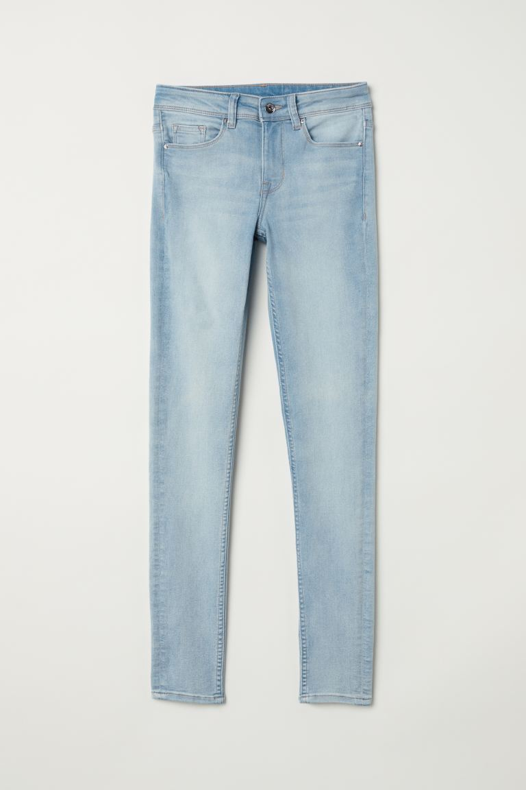 Super Skinny Regular Jeans - Светлосин деним - ЖЕНИ | H&M BG