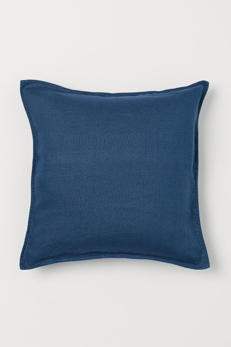 Solid-color Cushion Cover - Dark blue - Home All | H&M US