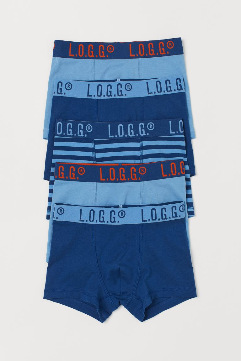 5-pack boxer shorts - Blue - Kids | H&M