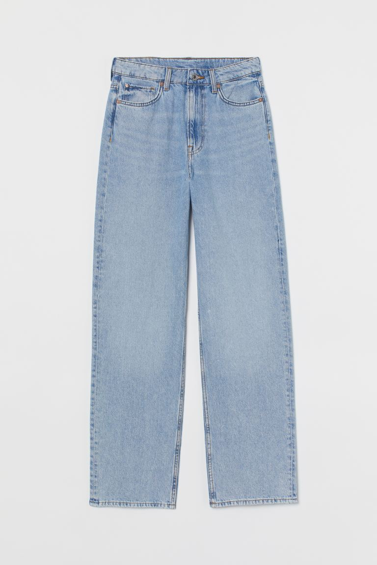 Loose Straight High Jeans - Licht denimblauw - DAMES | H&M NL