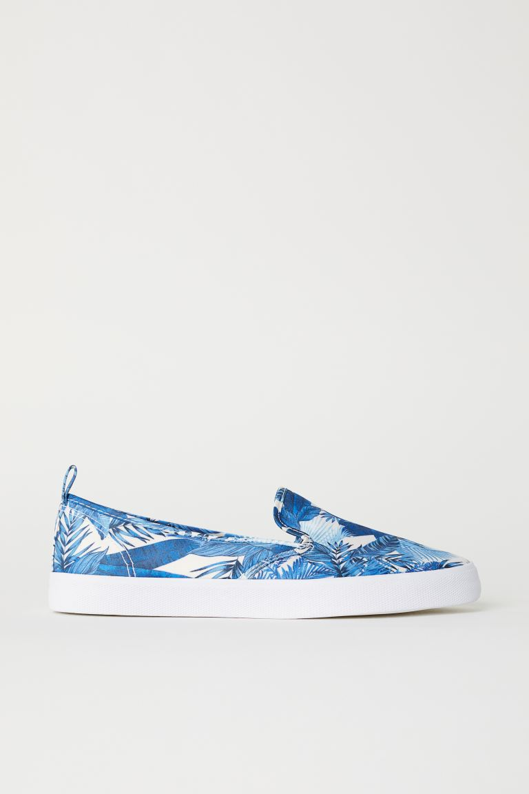 Sneakers slip-on - Blu/satin - DONNA | H&M IT
