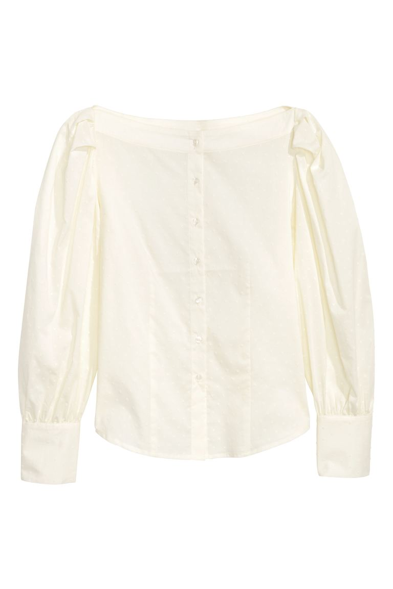 Cotton blouse - Natural white - Ladies | H&M GB