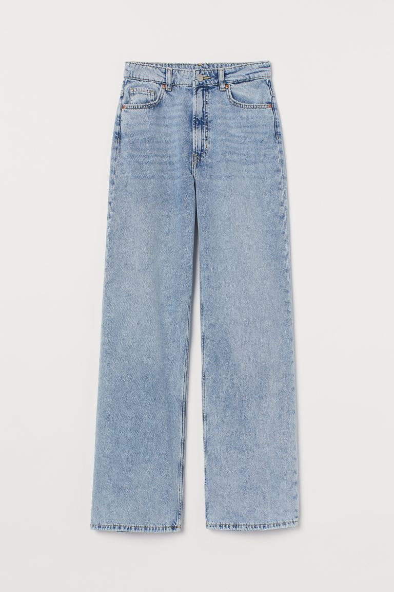 Wide High Jeans - Pale denim blue - Ladies | H&M CA