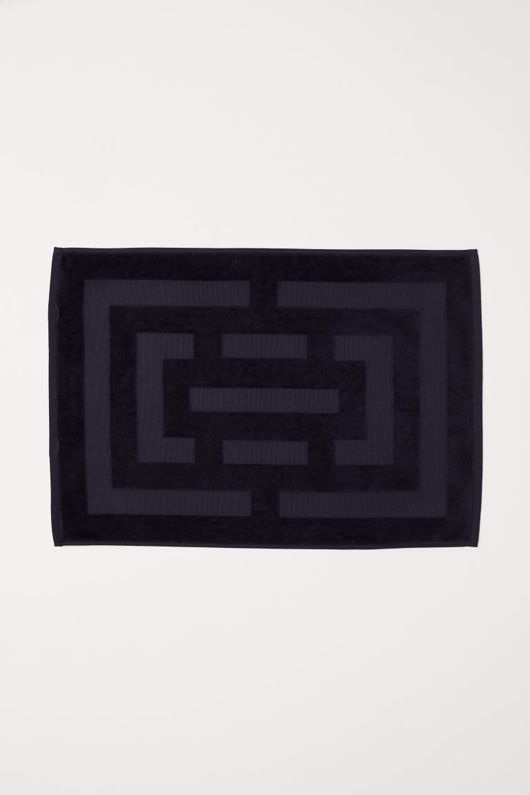 Badematte mit Jacquardmuster - Dunkelblau - Home All | H&M AT