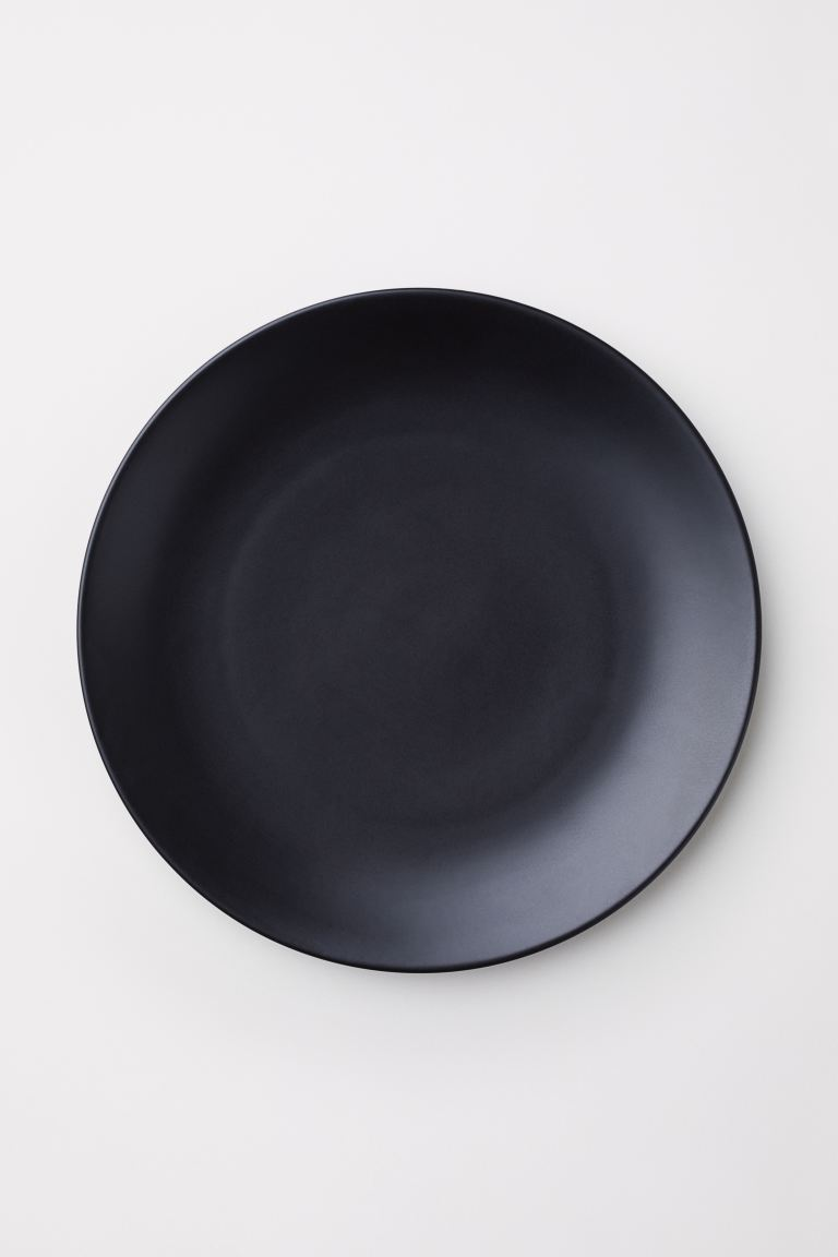 Porcelain Plate - Black - Home All | H&M US