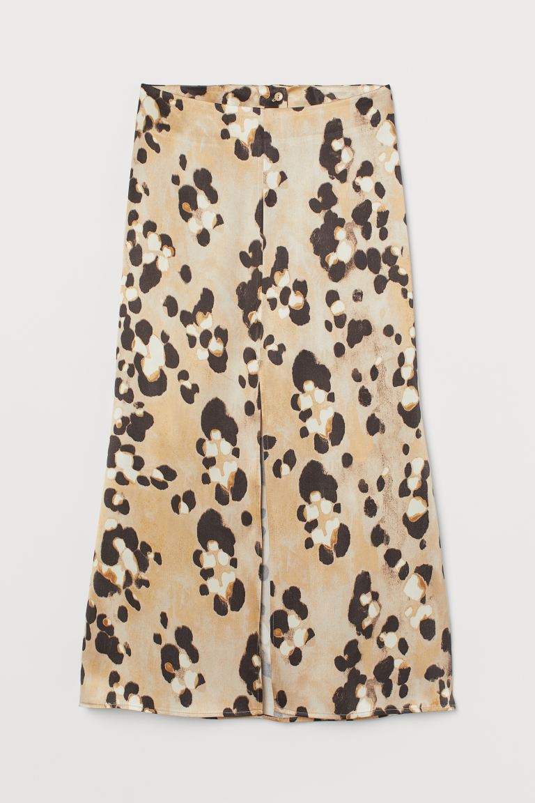 Lyocell-blend Skirt - Beige/leopard print - Ladies | H&M US