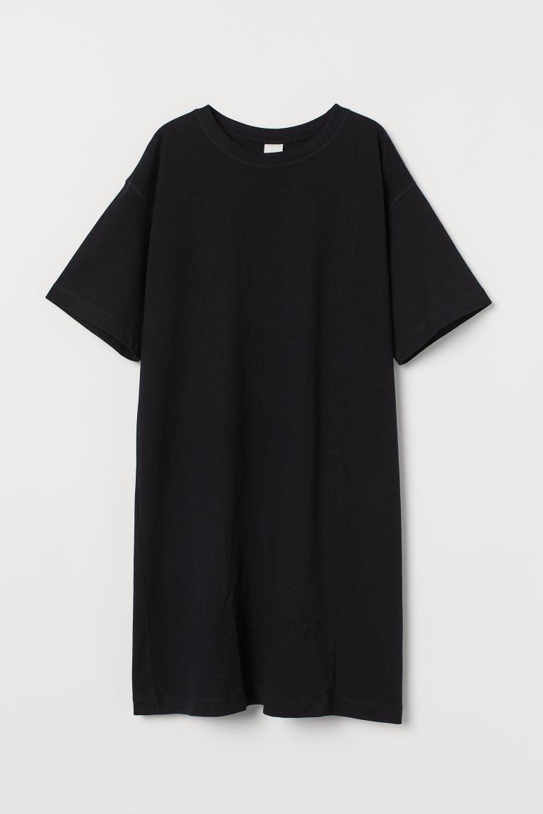 Jersey Tee Dress - Black - Ladies | H&M AU