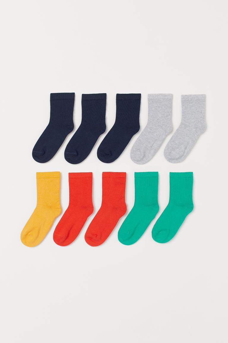 10-pack socks - Orange/Turquoise - Kids | H&M GB