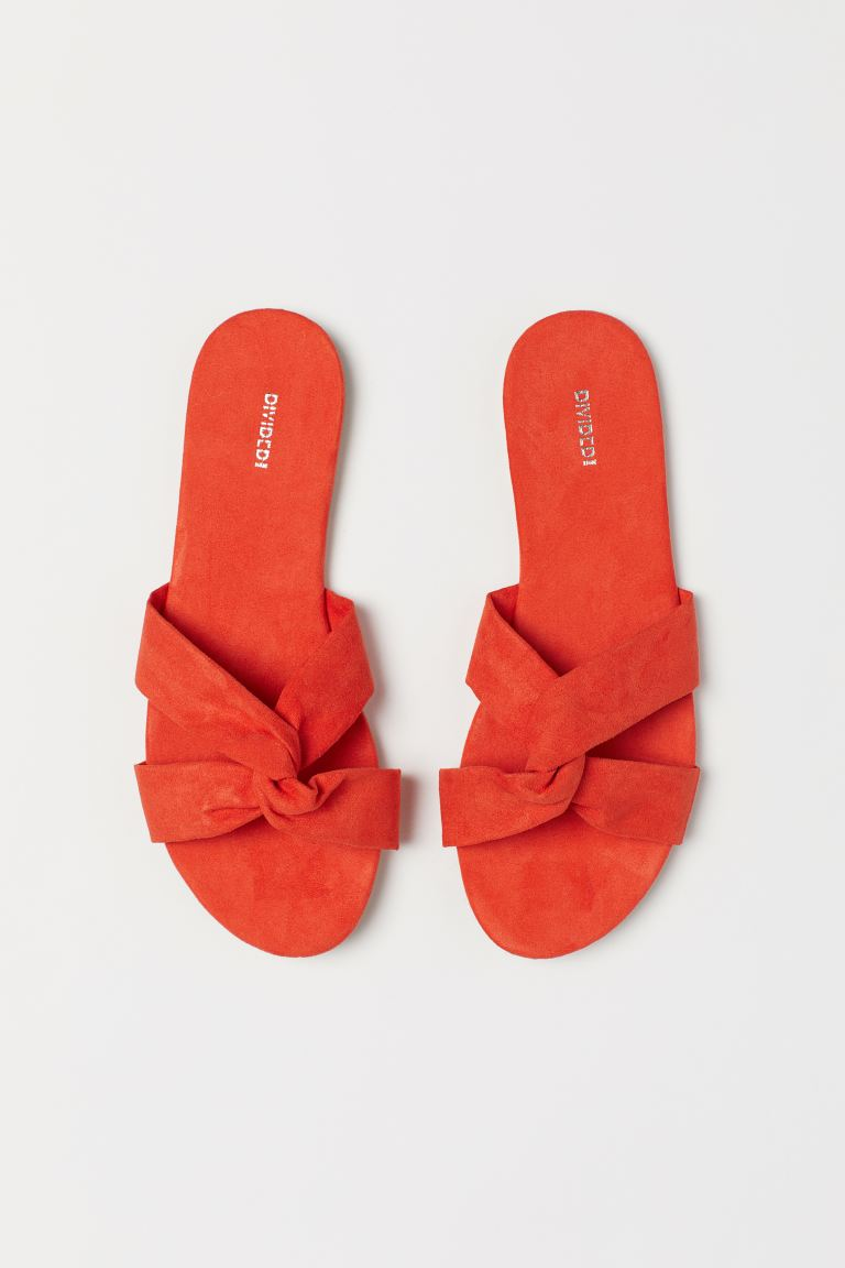 Slides - Orange - Ladies | H&M US