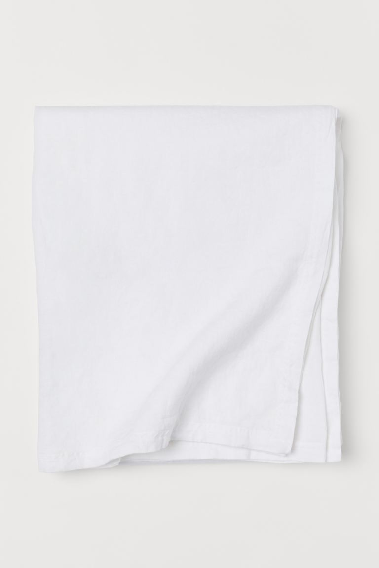Washed Linen Tablecloth - White - Home All | H&M US