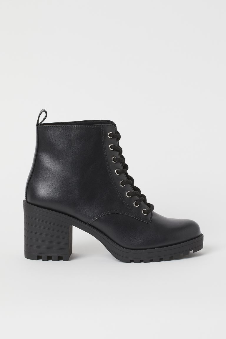 Block-heeled ankle boots - Black - Ladies | H&M