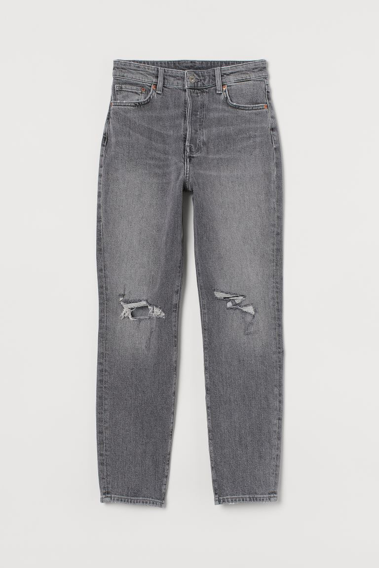 Mum High Ankle Jeans - Denim grey - Ladies | H&M AU