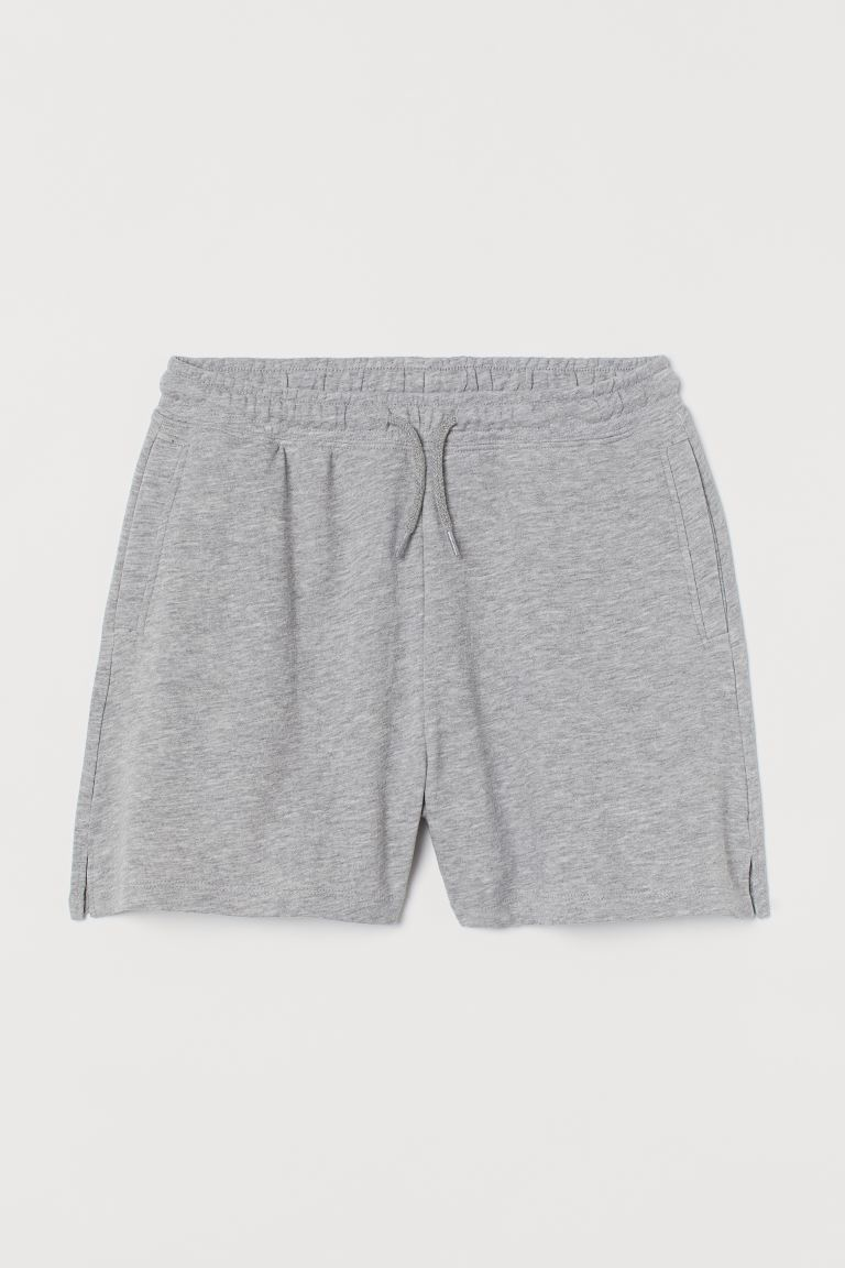 Weite Sweatshorts - Graumeliert - Ladies | H&M AT