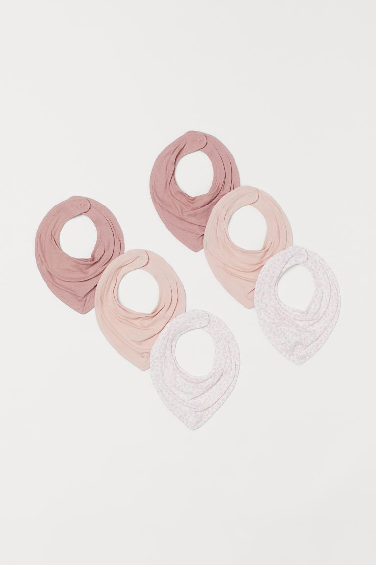 6-pack pañuelos triangulares - Rosa palo/Floreado - Kids | H&M MX