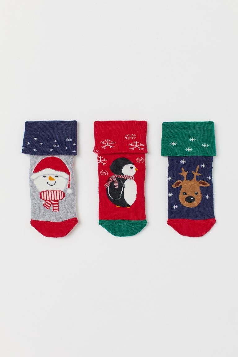 3-pack terry socks