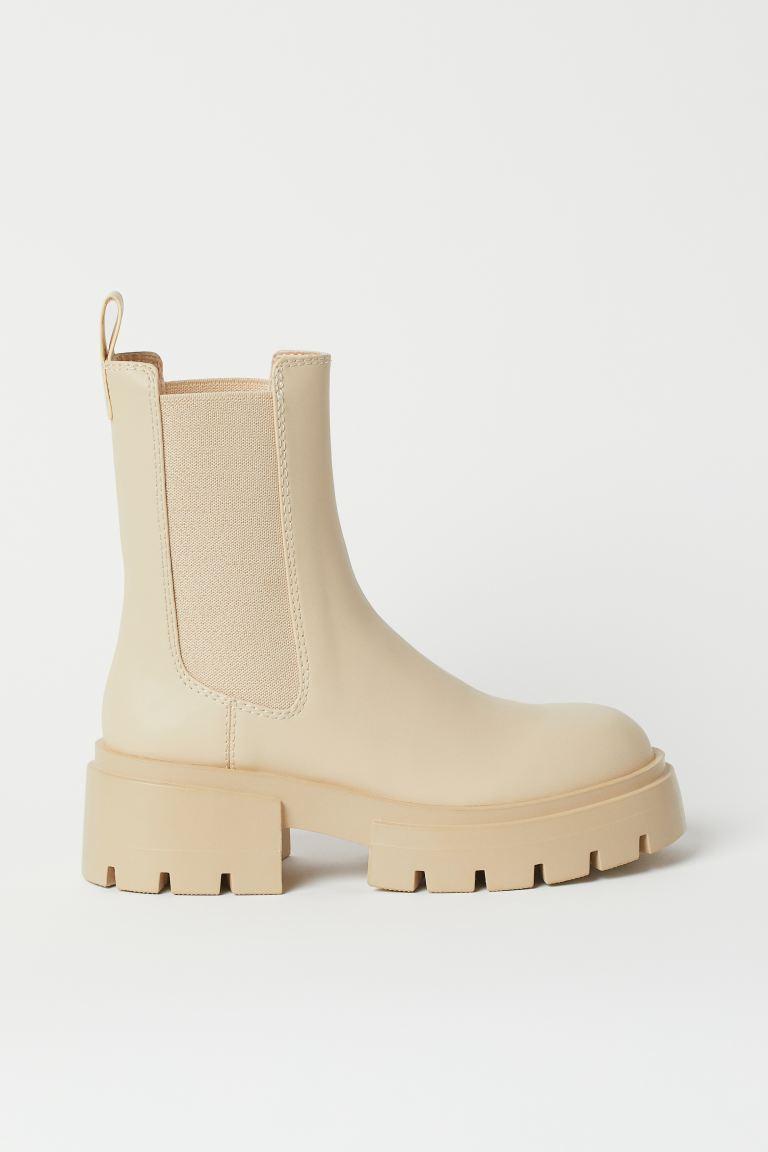 Platform Chelsea boots - Light beige - Ladies | H&M GB