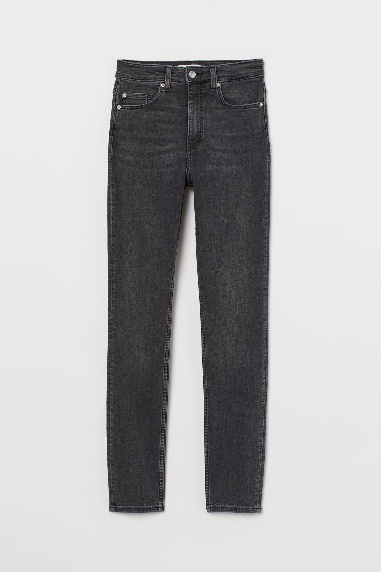 Skinny High Jeans - Charcoal gray - Ladies | H&M US