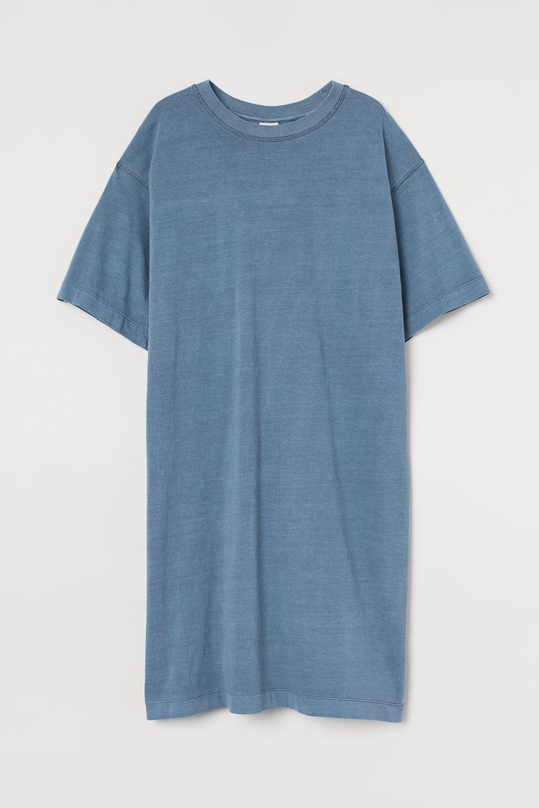 Jersey T-shirt dress - Blue - Ladies | H&M