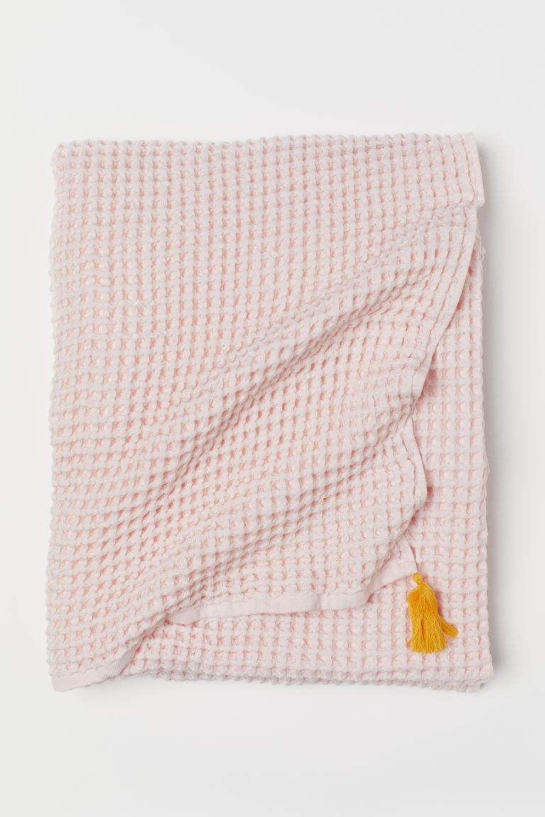 Waffled blanket - Light pink - Home All | H&M GB