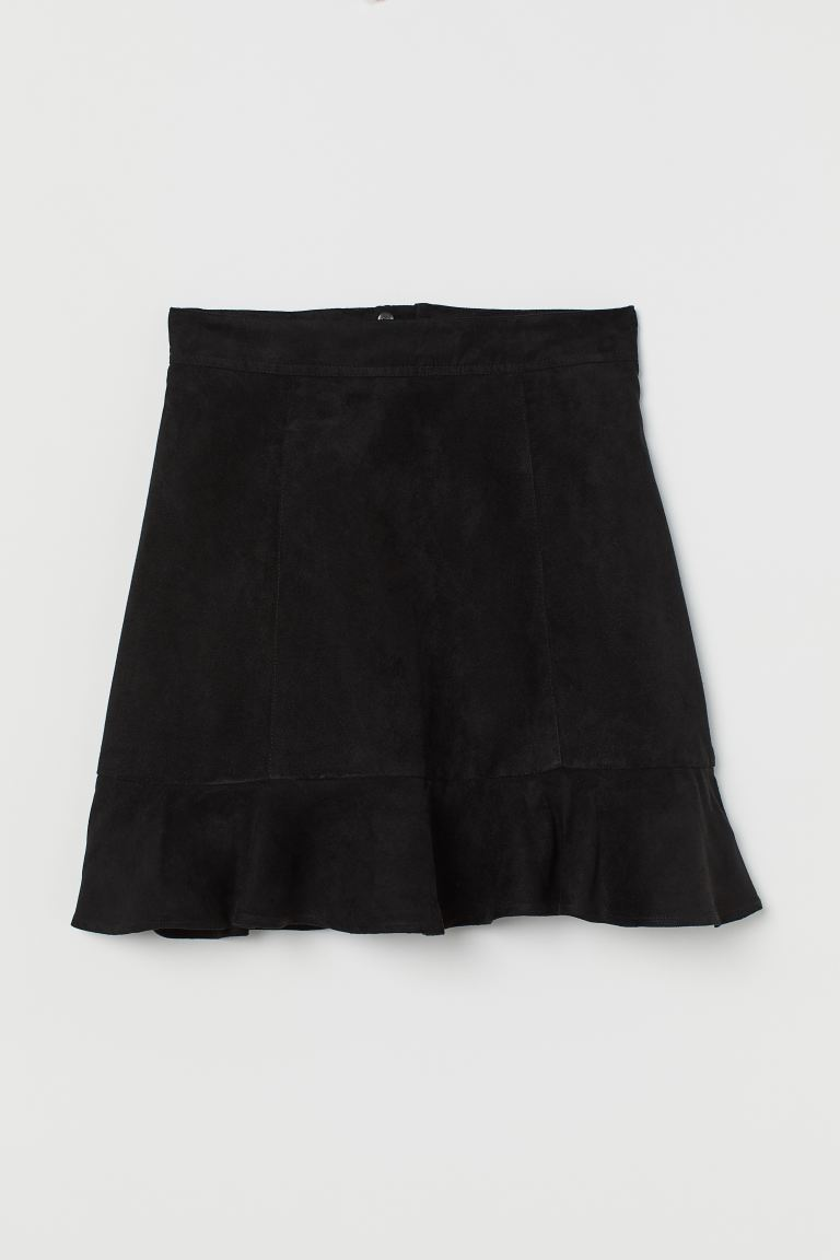 Flounced skirt - Black - Ladies | H&M