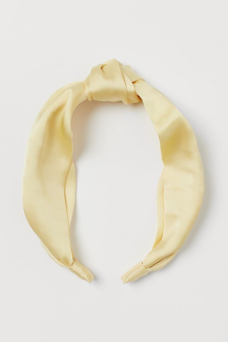 Hairband with Knot - Light yellow - Ladies | H&M US