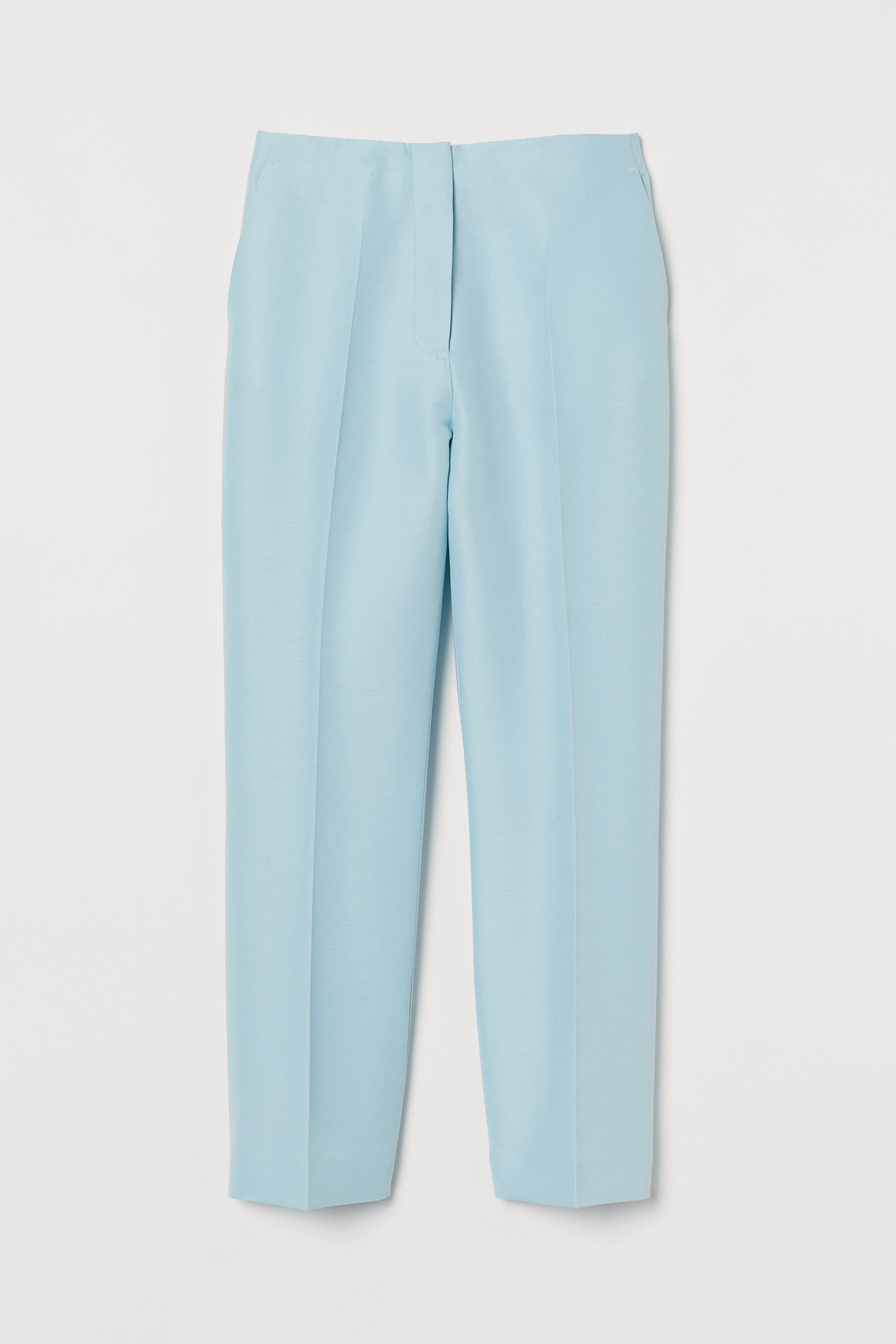 Wool-blend Ankle-length Pants