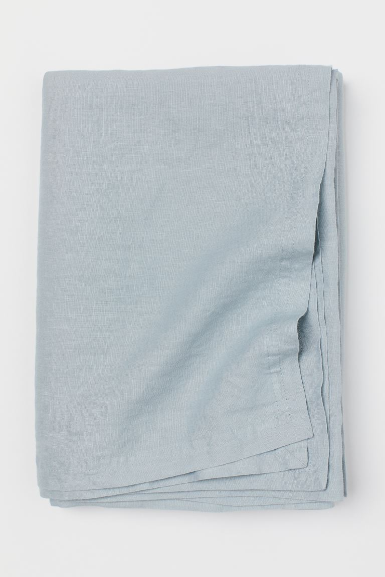 Nappe en lin lavé - Turquoise clair - Home All | H&M CA