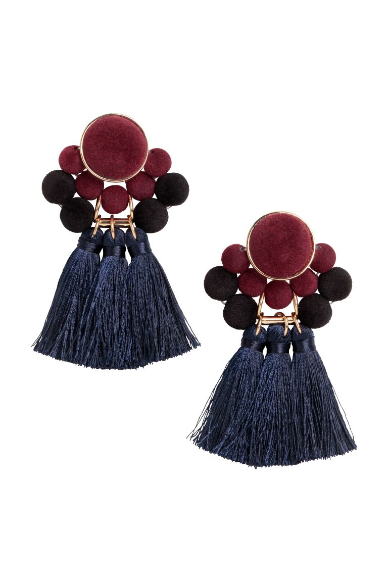 Earrings - Dark blue/Burgundy - Ladies | H&M
